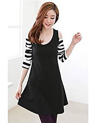 Women's Casual/Daily Sexy / Cute Dress,Striped Above Knee Long Sleeve Spring / Fall