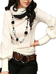 Co Co Zhang Frauen hohen Hals einfarbig figurbetonten T-Shirt