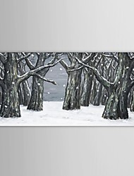 IARTS®Hand Painted Oil Painting Landscape Trees in Snowfield  with Stretched Frame