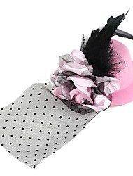 Women's Feather/Fabric Headpiece - Wedding/Special Occasion Flowers/Birdcage Veils