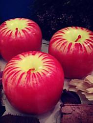 Набор 2 Свеча рождества красное яблоко, парафин