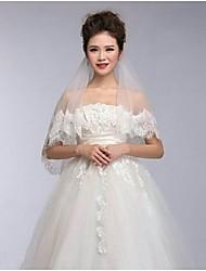 2m Lace Trim Wedding Veils ASV2