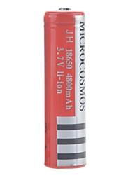 microcosmos 4800mah 18650 batería de iones de litio recargable (1pcs)
