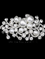 Women's Fashion Pearl and Rhinestone Wedding/Party Hair Comb