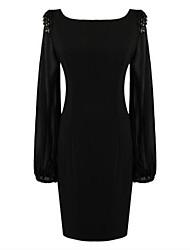 пункт женская шифона темперамент длинным рукавом платье