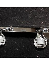 Wodiston Led wall lamp 2 lamp, hand brush induction switch, Crystal, Simple Artistic Stainless Steel