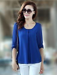 mousseline de soie chemise de style coréen des femmes