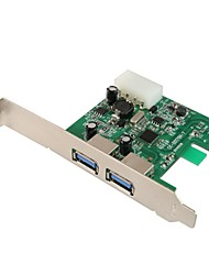 maiwo KC001 2port usb 3.0 pci express card para el escritorio