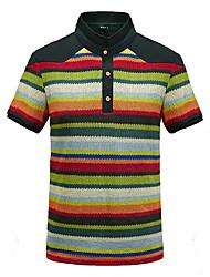 V Neck Plaid T-shirts vintage pour hommes