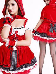 Cute Little Red Riding Hood poliéster traje de pirata (2 Piezas)