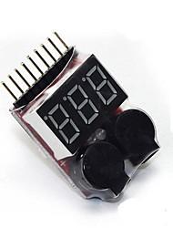 1-8s высокая точность электрический дисплей aeromodelling литий бб напряжение батареи дисплей тревоги звонит комбо