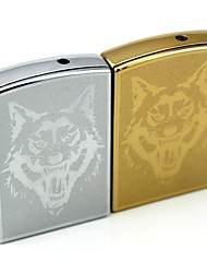 Personalized Engraving Wolf  Pattern Metal Electronic Lighter