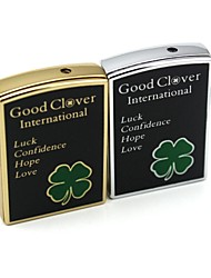 Personalized Engraving Clover Pattern  Metal Electronic Lighter