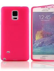 DF® bascule s-vue TPU étui en silicone complet du corps pour Samsung Galaxy Note 4 (couleurs assorties)
