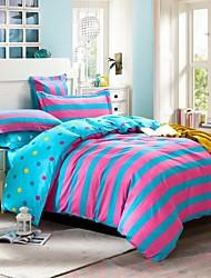 mieux couette à domicile housse de couette mis confort simple de 4 pièces motif géométrique moderne costume twill de coton 100 complète