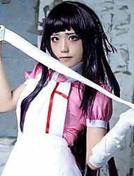 Perruques de Cosplay Dangan Ronpa Cosplay Noir Long Anime/Jeux Vidéo Perruques de Cosplay 100 CM Fibre résistante à la chaleur Féminin