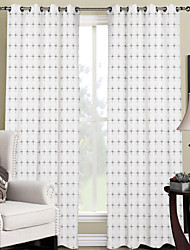 Modern Minimalist Twinkle Stars Curtain (Two Panels)