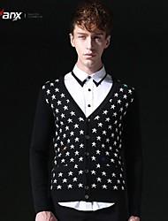 genanx® el nuevo patrón de estrellas cardigan hombre suéter B158
