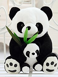 25cm Mother and Child Panda Stuffed Toy (Black&White)