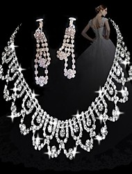 moda diamante doces conjuntos femininos de link: colar e brincos (venda de ações; julgamento: 3)
