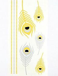 מדבקות קעקועים - תבנית/Waterproof - תינוק/נשים/Girl/מבוגר/נוער - מרובה צבעים - נייר - #(1) - #(21*11*0.1) - דפוס