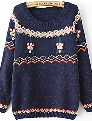 DMI™ Women's Round Collar Crochet Flower Pullover Sweater(More Colors)