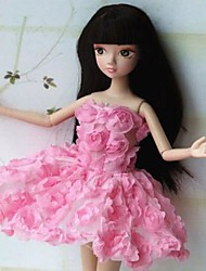 Party/Evening For Barbie Doll Pink Dresses For Girl's Doll Toy