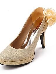 Women's Wedding Shoes Heels/Round Toe Heels Wedding Red/Gold