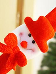 Colorful Clap Circle Snowman Bracelet Christmas Gift