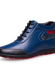 Scarpe da uomo Casual Di pelle Sneakers alla moda Nero/Blu
