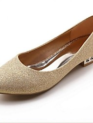 Women's Wedding Shoes Round Toe Flats Wedding/Party & Evening Red/Champagne