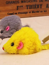 Cat / Dog Pet Toys Mouse Toy / Feather Toy Mouse Random Color Textile