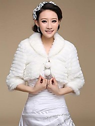 Wedding / Party/Evening Faux Fur Shawls Half-Sleeve Fur Wraps