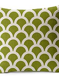 geométrica luz verde de algodão / linho fronha decorativo