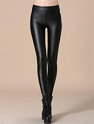 Incern®Women's Stretchy Fitted Leather Velvet Trousers