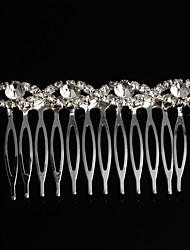 Fashion  Silver Plated Rhinestone Bridal Party Gift Hair Comb