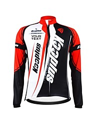 KOOPLUS Unisex Winter Customized Cycling Clothing Long Sleeve Thermal Fleece Cycling Jersey--Red+White