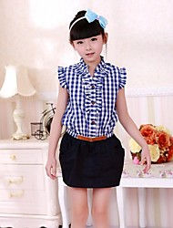Girls Grid  and Folium Nelumbinis  Clothing with Laciness