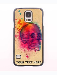 Personalized Phone Case - Skull with Birds Design Metal Case for Samsung Galaxy S5 mini