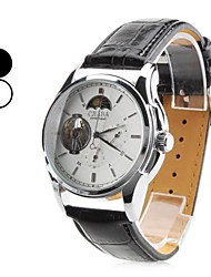 CJLABA Men's Moon-phase Leather Band Auto Mechanical Wrist Watch (Assorted Colors) Cool Watch Unique Watch Fashion Watch