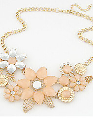 Timi Women's Fashion Elegant Flower Pattern Necklace