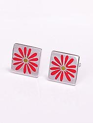 925 zilveren sieraden bloem oorbellen rode zon