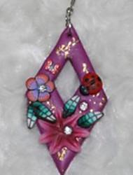 elegantes venda quente brincos de flores nobres subiu