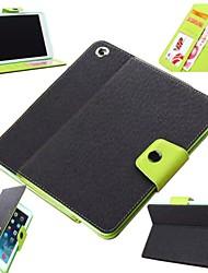 motif de litchi menthe fraîche pleine cas de corps avec TPU couverture souple et support pour iPad Mini / Mini 2 / mini-3 (couleurs