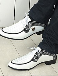 Men's Shoes Office & Career/Casual/Party & Evening Leather Oxfords Black/White