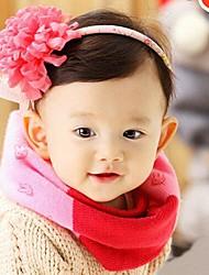 Mode Mischfarben Kinderstrickschal für 1-4 Jahre