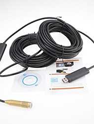 Pure Copper 30M USB Snake Scope Inspection Camera Endoscope Borescope 4 LED Waterproof Mini Hidden Camera