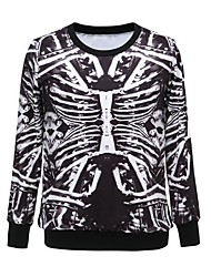 Women's Multi-color Hoodies , Casual/Print Long Sleeve