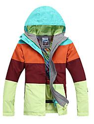 Women's Ski Ski/Snowboard Jackets Waterproof / Breathable / Wearable / Windproof / Thermal / WarmRed / Light Yellow / Light Green /
