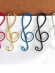10pcs/set Musical Note Mixed Color Cute Metal Clip Bag Clip Paper Clips